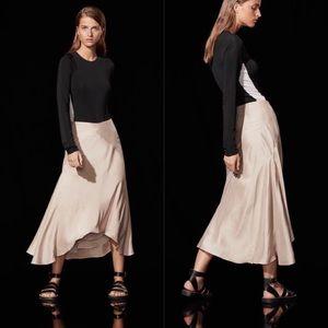 Aritzia 1-01 Babaton Woodman Silk Skirt